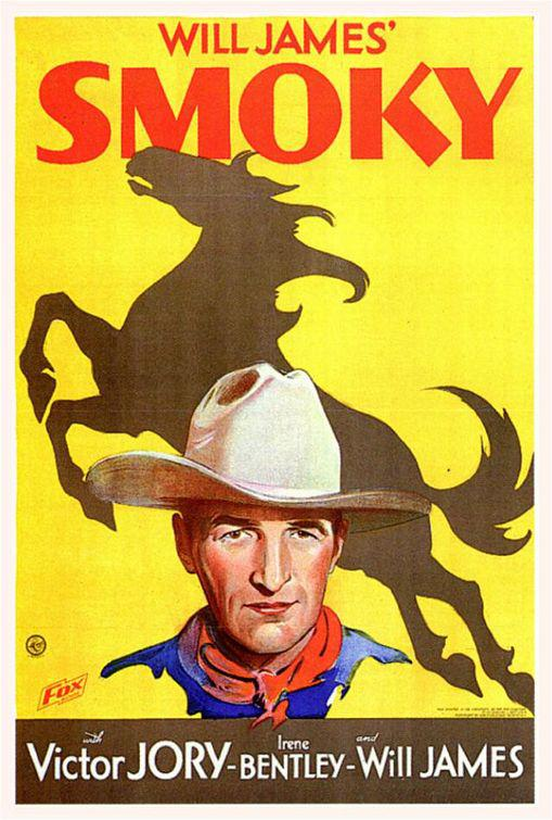 Smoky - old western poster - Will James - Victor Jory - Irene Bentley