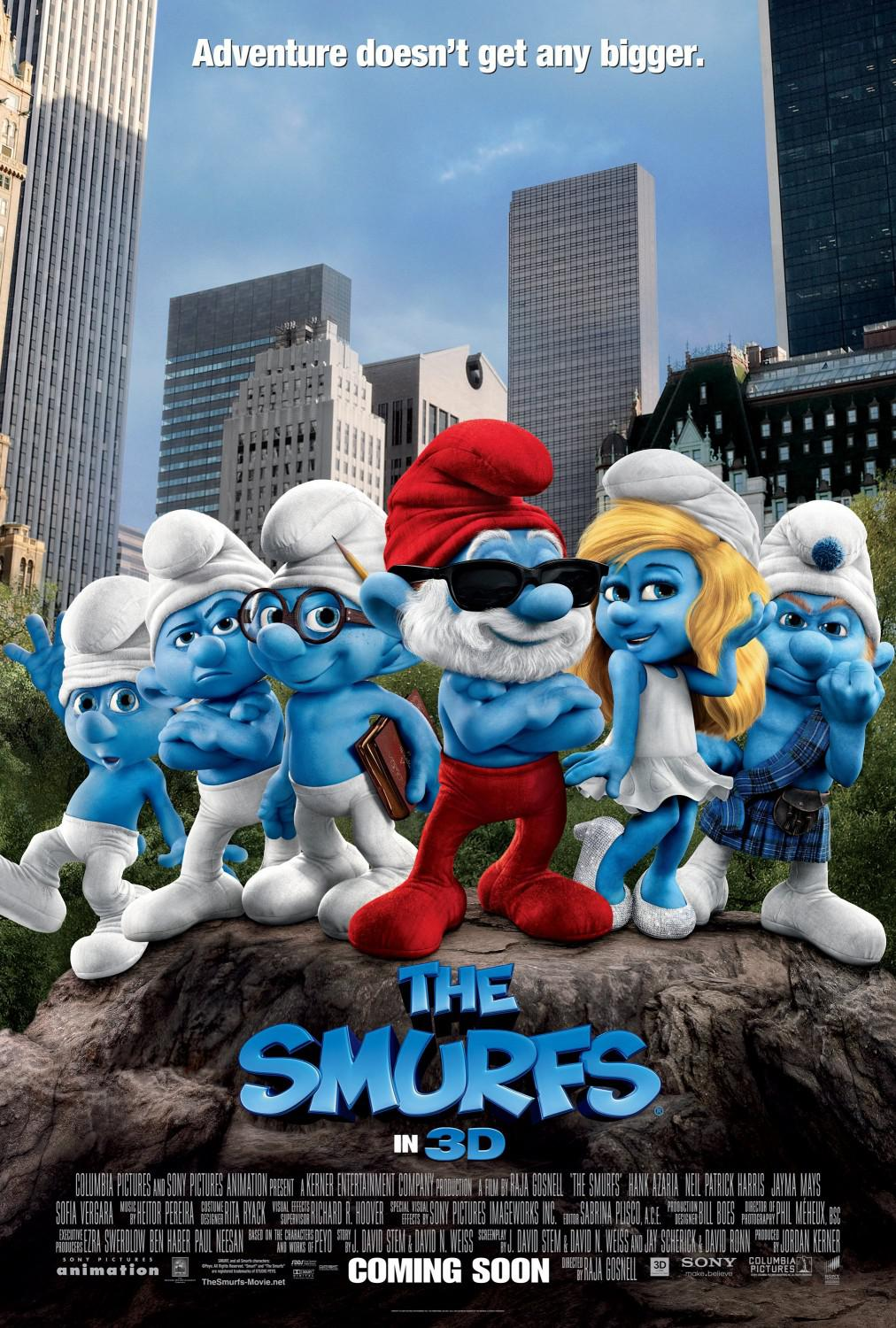Film I Puffi in 3D - Movie Smurfs in 3D - poster