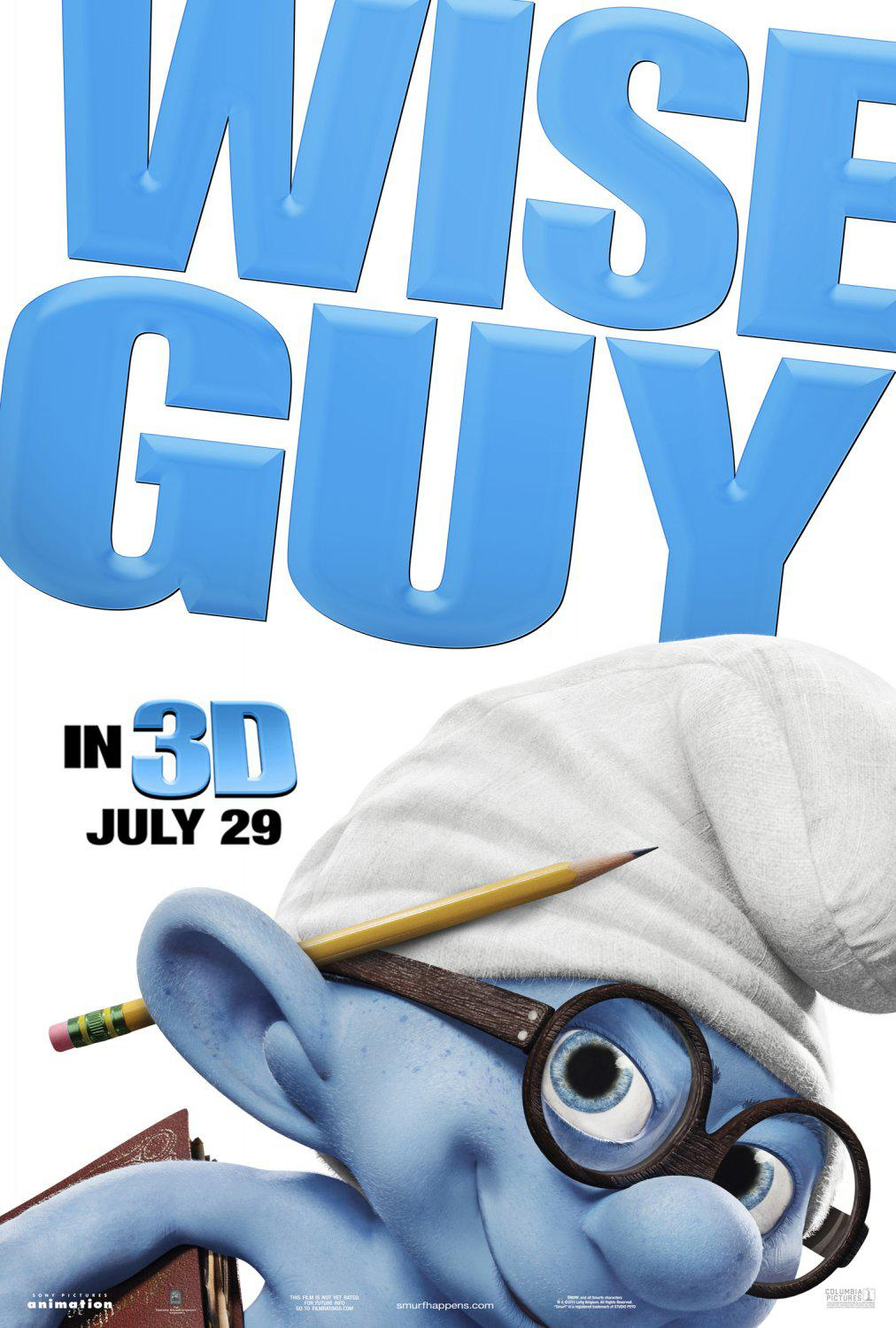 Film I Puffi in 3D - Movie Smurfs in 3D - Wise Guy