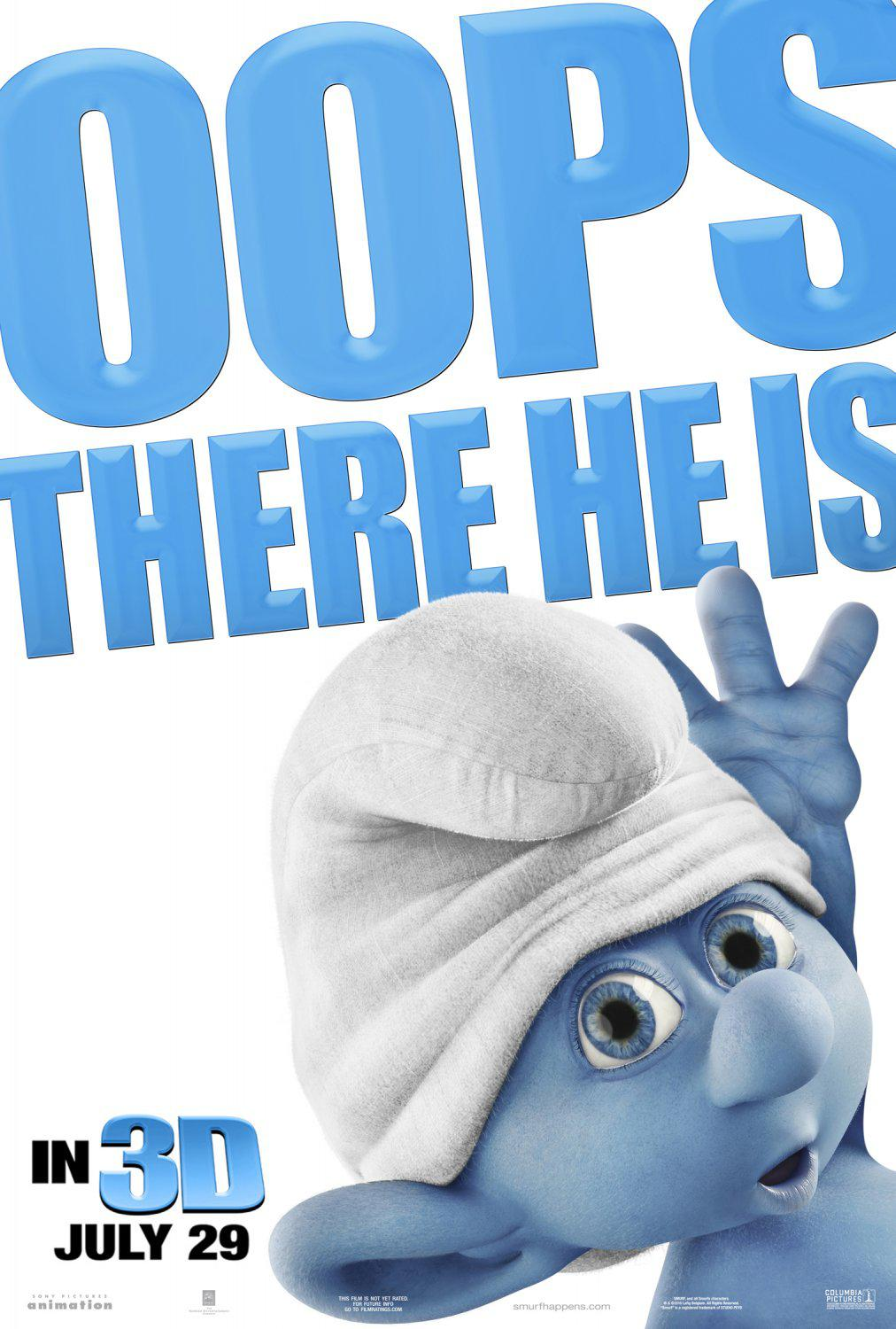 Film I Puffi in 3D - Movie Smurfs in 3D - Oops there he is