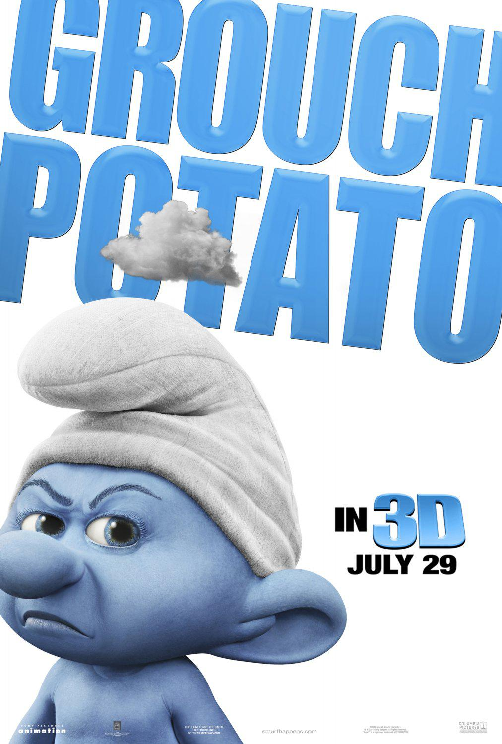Film I Puffi in 3D - Movie Smurfs in 3D - Grouch Potato