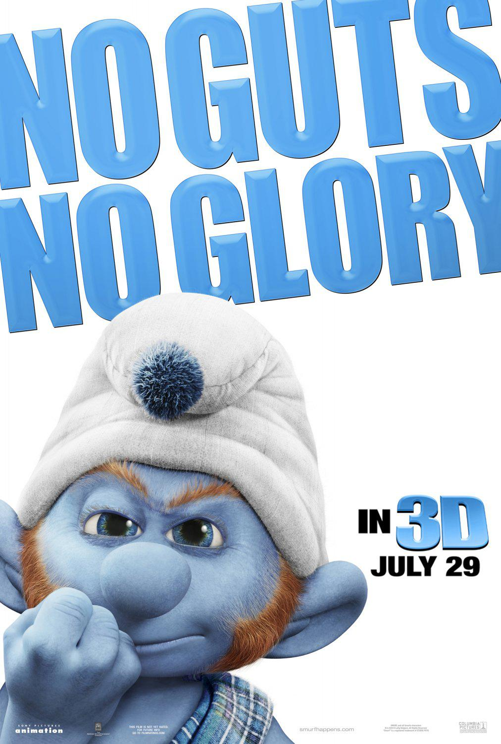 Film I Puffi in 3D - Movie Smurfs in 3D - No Guts No Glory