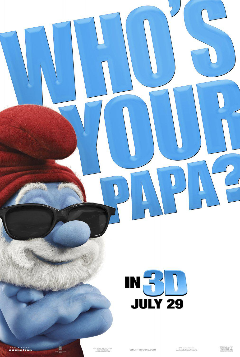 Film I Puffi in 3D - Movie Smurfs in 3D - Qho's your Papa?