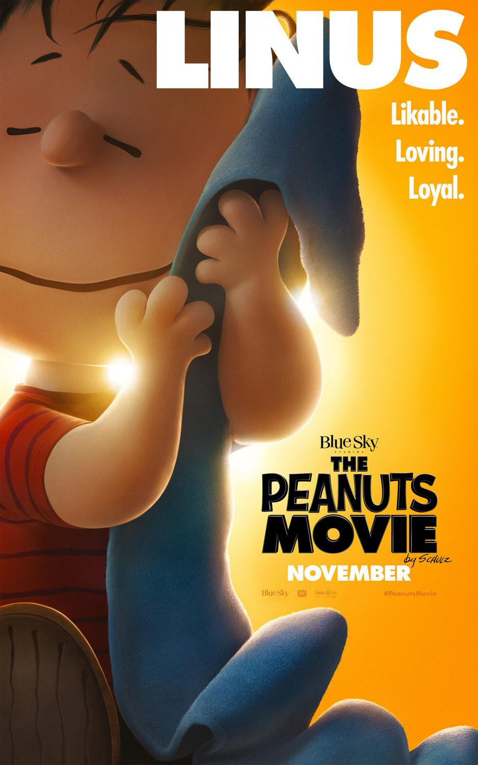 Snoopy and Charlie Brown the peanuts movie - Linus