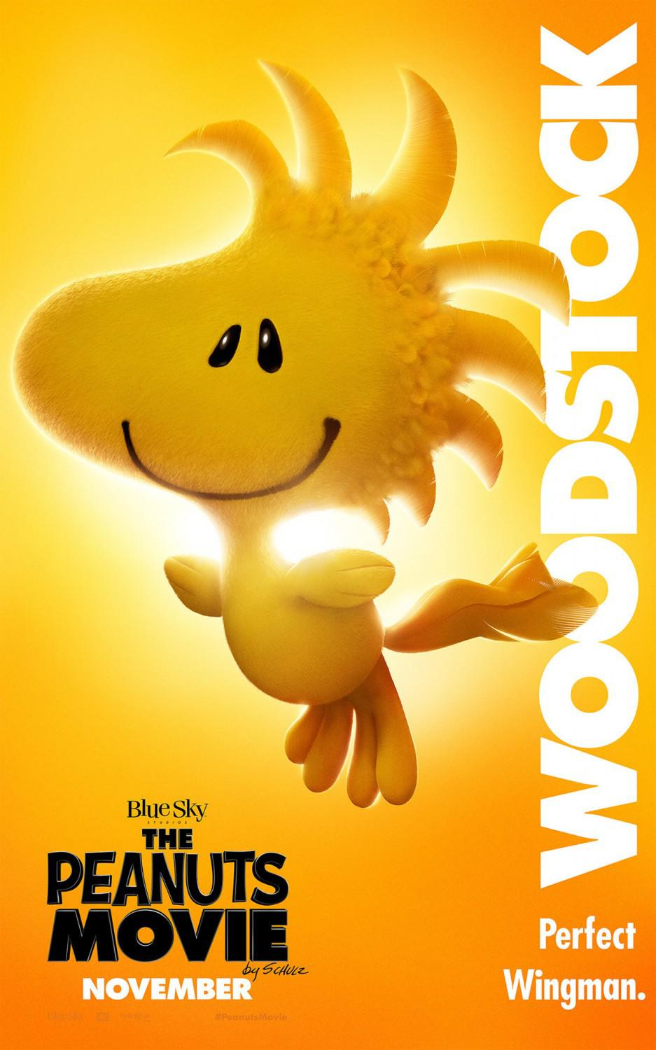 Snoopy and Charlie Brown the peanuts movie - Woodstock