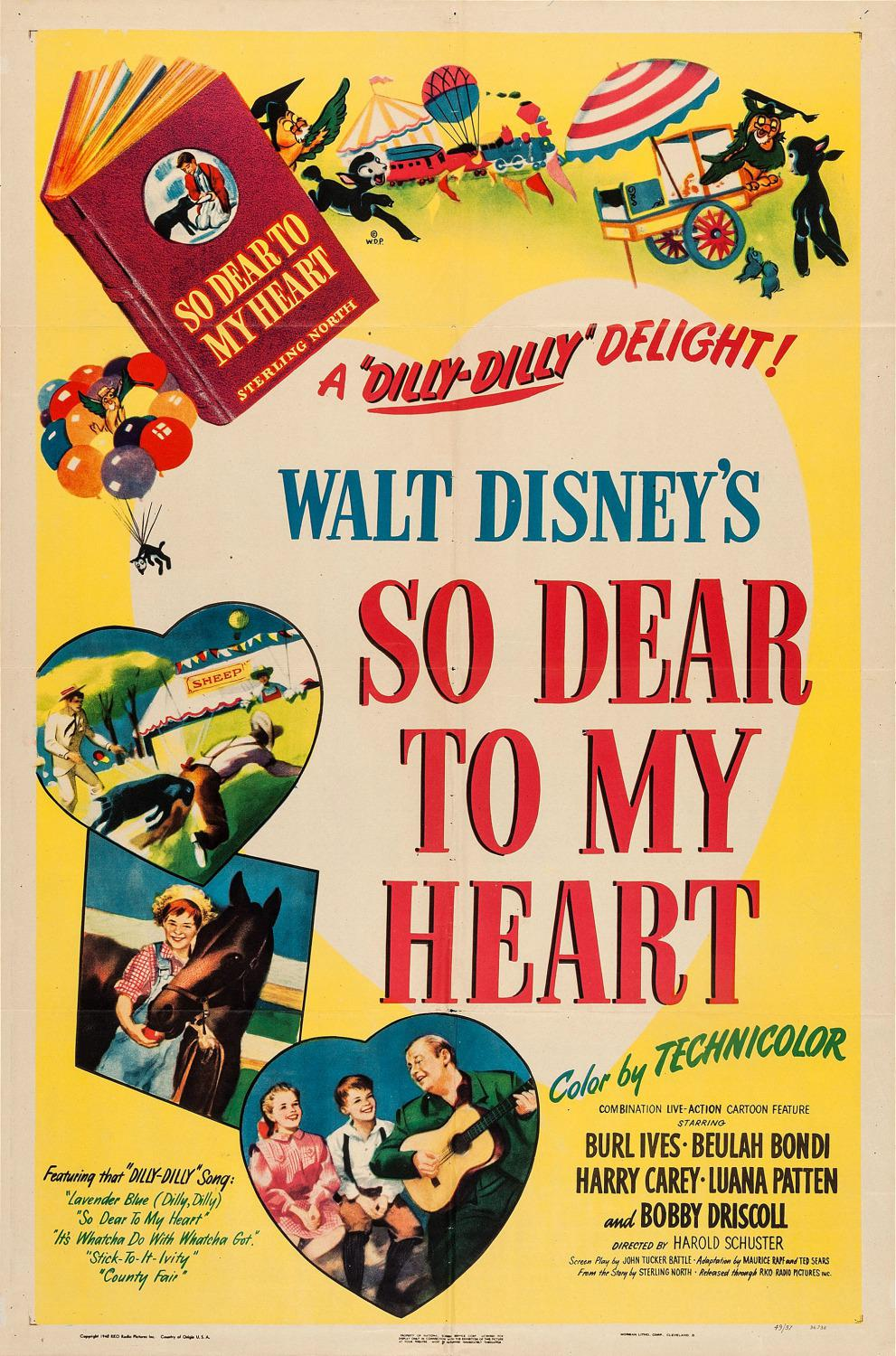 Film Disney old poster - Così caro al mio Cuore - So dear to my Heart