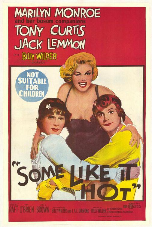 Some like it hot - A qualcuno piace caldo, un classico con Marilyn Monroe, Tony Curtis e Jack Lemmon
