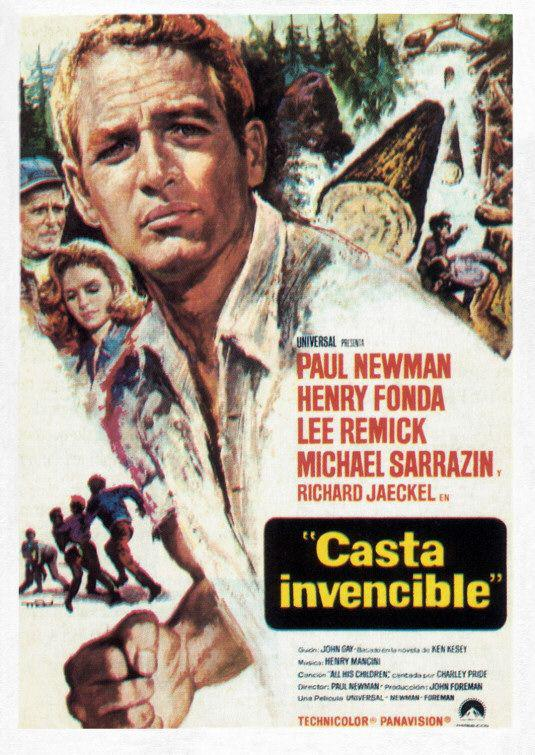 Sometimes a great notion - Casta invencibler - classic film cult poster - Paul Newman - Henry Fonda - Lee Remick - Michael Sarrazin - Richard Jaeckel