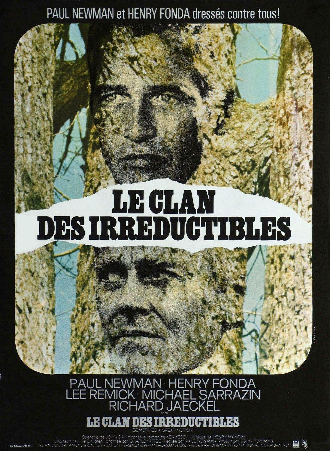 Sometimes a great notion - le Clan des Irreductibles - classic film cult poster - Paul Newman - Henry Fonda