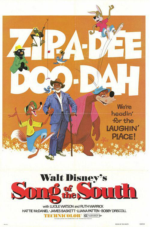 I Racconti dello Zio Tom - Song of the South - classic Disney film poster - Zip-a-Dee-Doo-Dah - we're heading for the laughin place
