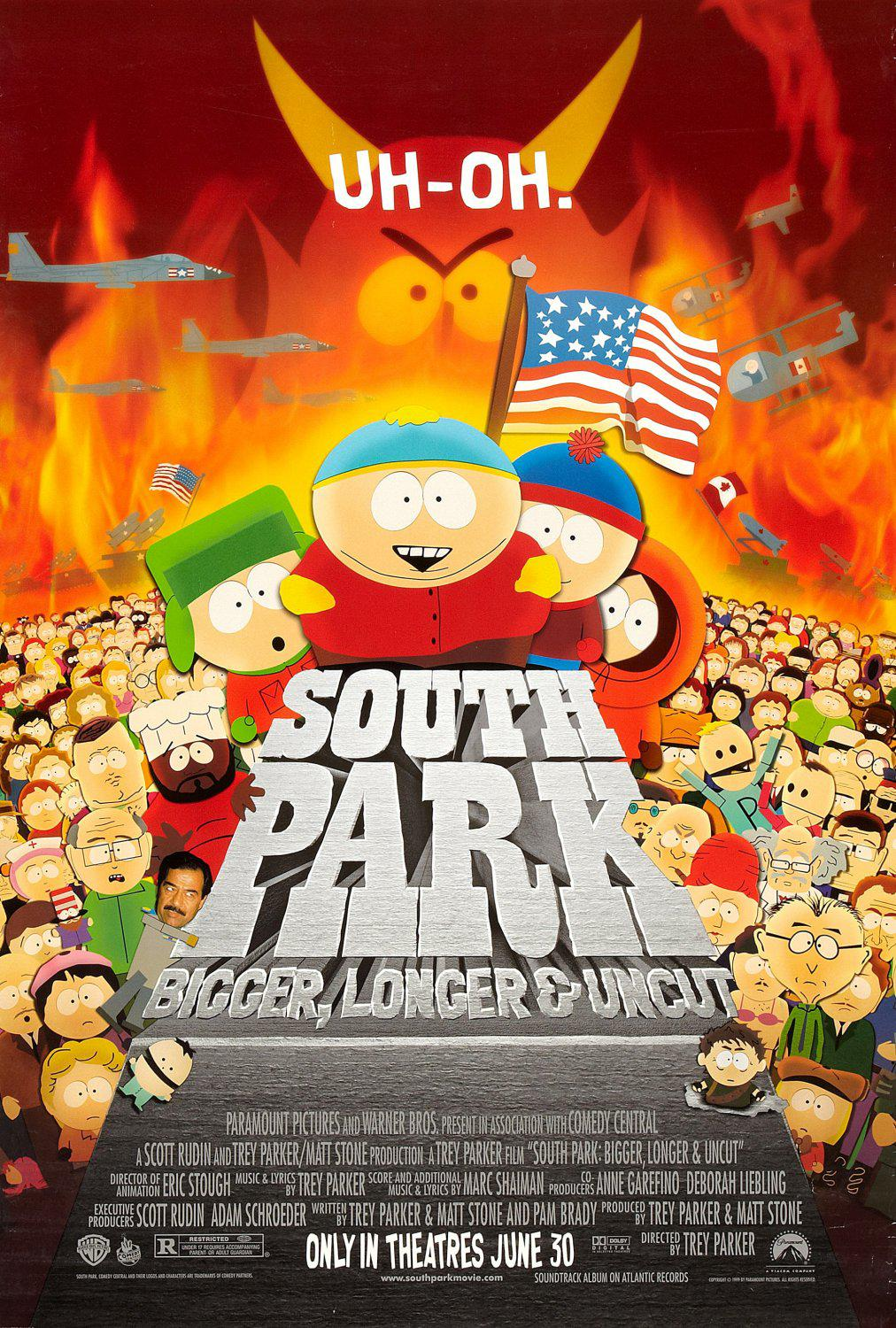 South Park bigger longer and uncut - animated film cartoon poster
