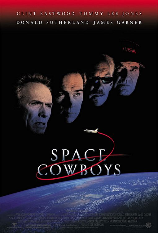 Film poster - Space Cowboys - Clint Eastwood - Tommy Lee Jones - Donald Suttherland - James Garner