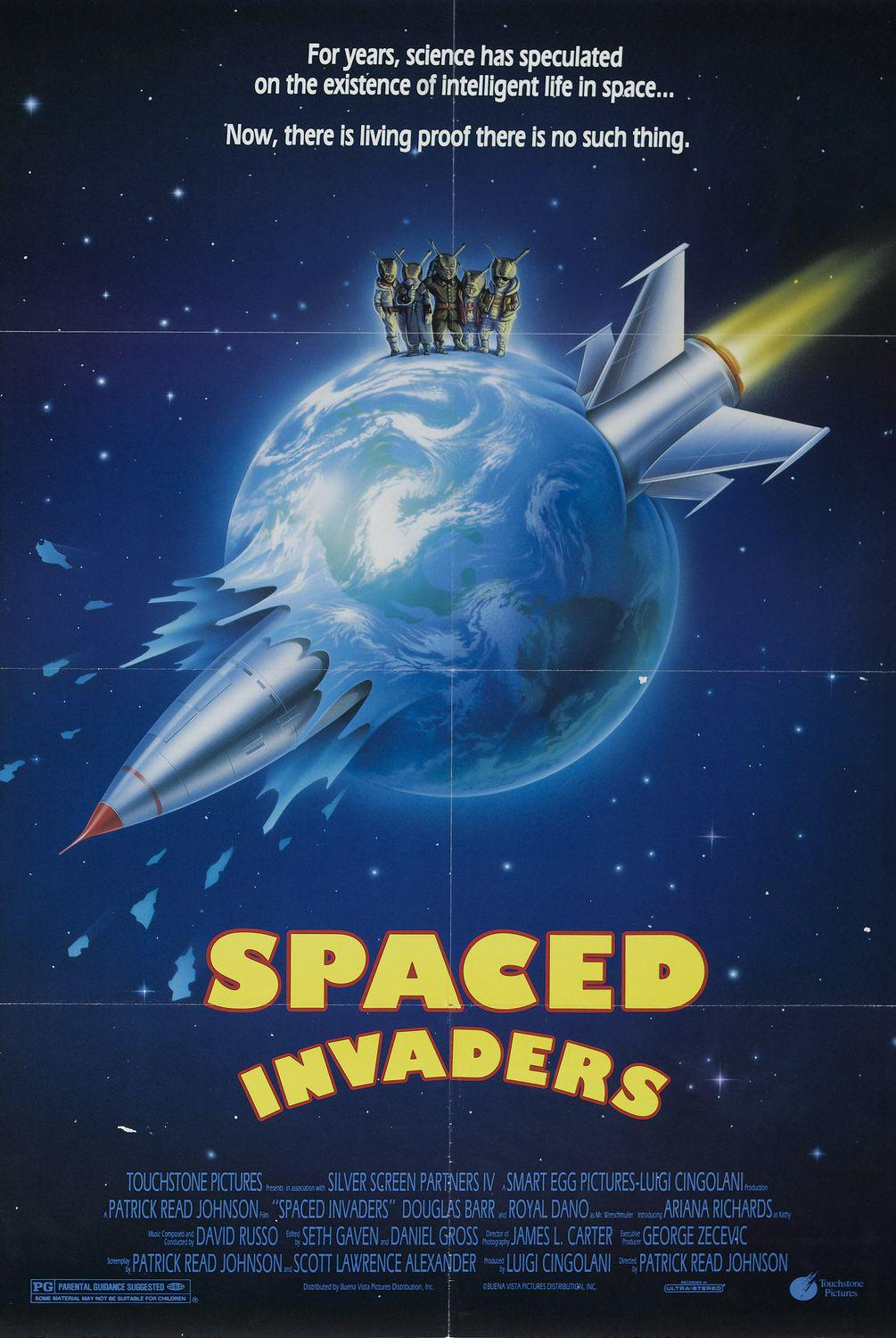 Spaced invaders - funny film - For years, science has speculated on the existence of intelligent life in space. Now, there is living proof there is no such thing. - Patrick Read Johnson film with Douglas Barr, Royal Dano and Ariana Richards