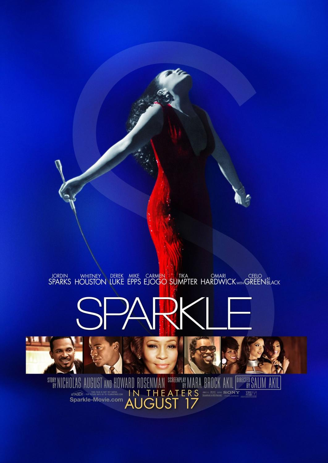 Sparkle - film poster - Jordin Sparks - Whitney Houston - Derek Luke - Mike Epps - Carmen Ejogo - Tika Sumpter - Omari Hardwick - Ceelo Green as Black