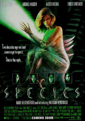 Species - Mutant - film poster - Ben Kingsley - Michael Madsen - Alfred Molina - Forest Whitaker