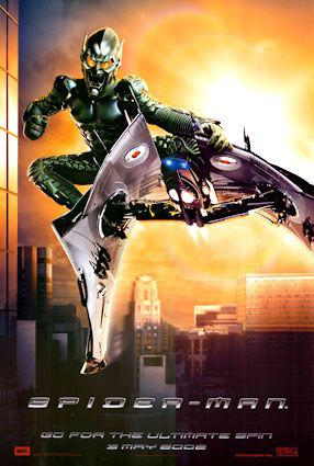 Spiderman 1 - Spider Man - Uomo Ragno - poster  Goblin - Folletto verde - flying