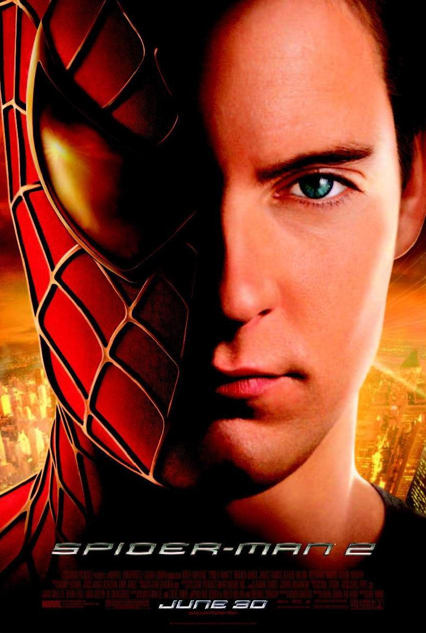 Spiderman 2 - Spider Man two - poster face