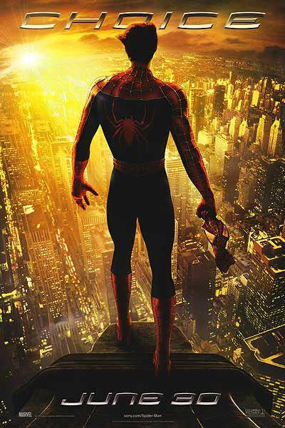 Spiderman 2 - Spider Man two - poster  city