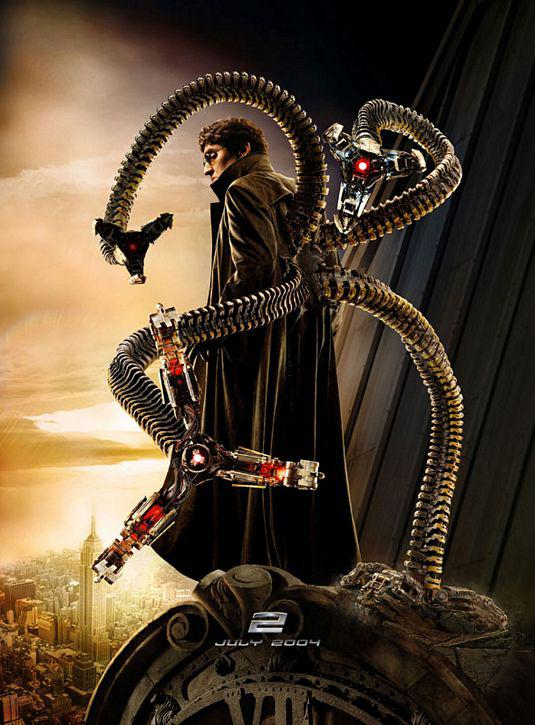 Spiderman 2 - Spider Man two - poster Dottor Otto Octavius - Dottor Octopus (interpretato da Alfred Molina)