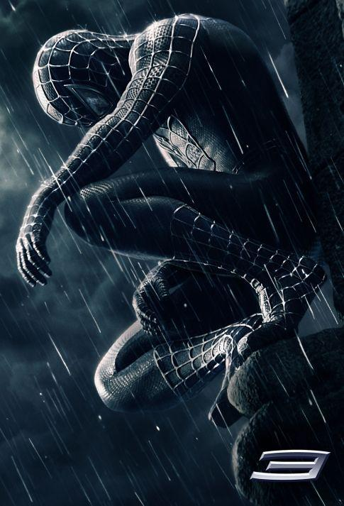 Spiderman 3 - Spider Man three - poster black