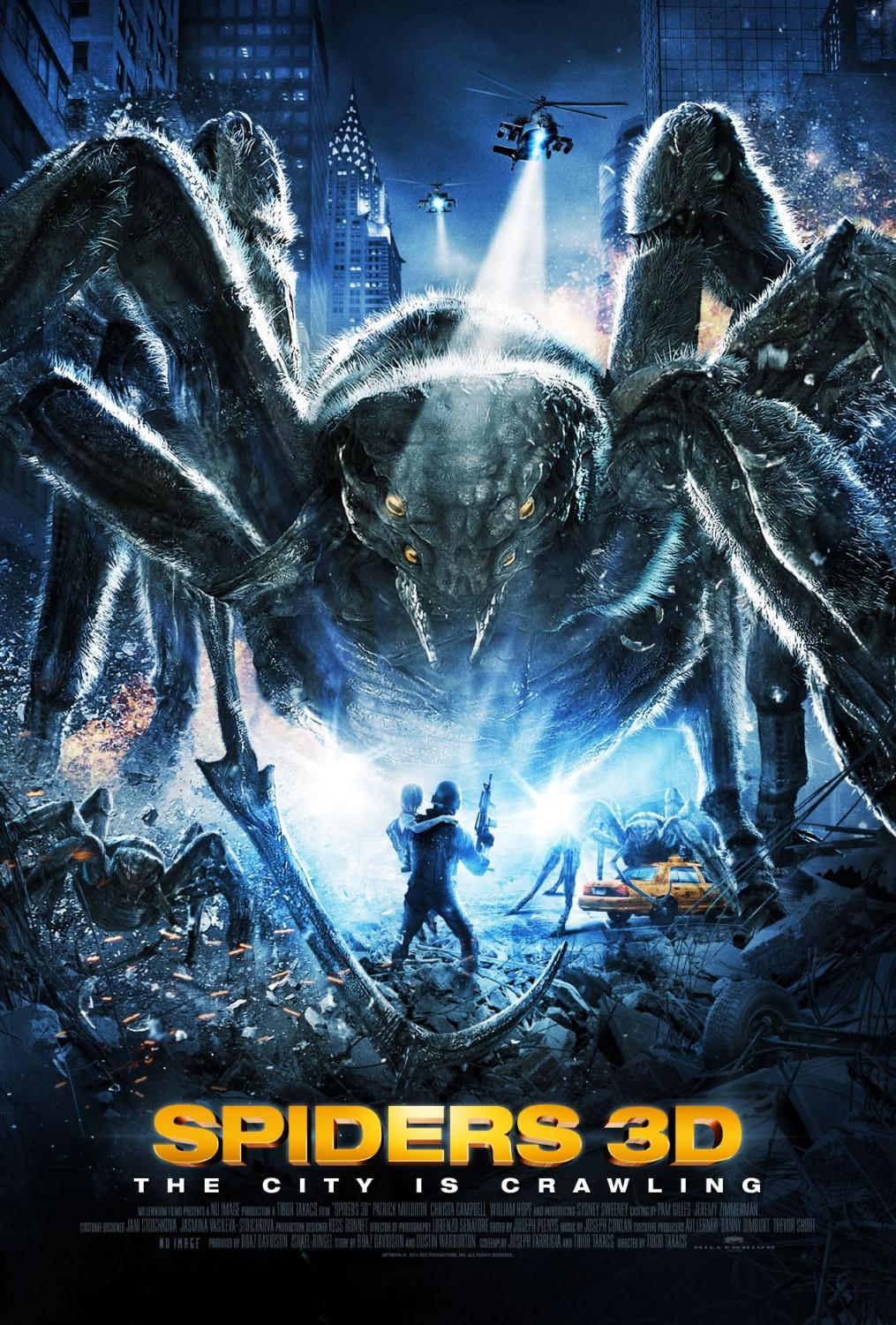 Spiders 3D - the city is crawling - monster horror invasion film poster