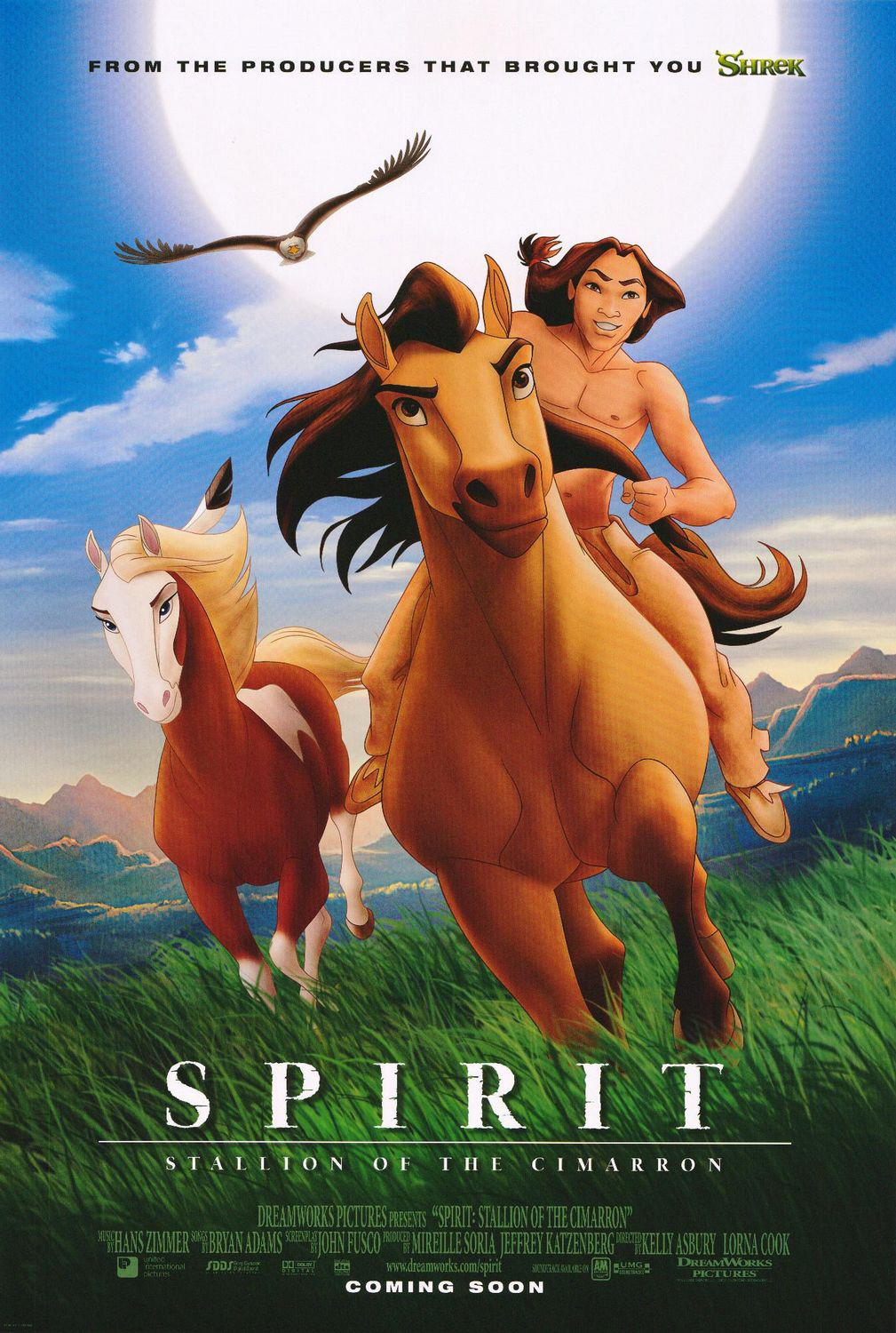 Spirit Stallion of the Cimarron - Stallone selvaggio ... animated film cartoon poster