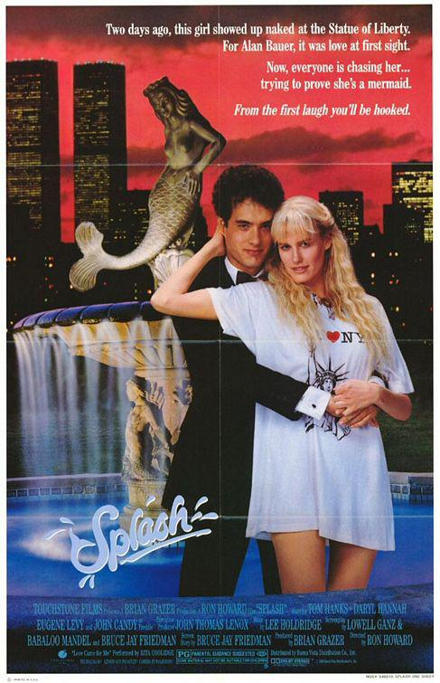 Splash - una Sirena a Manhattan  - Two days ago this girl showed up naked at the Statue of Liberty. For Alan Bauer, it was love at first sight. Now everyone is chasing her ... trying to prove she's a Mermaid. - Tom Hanks - Daryl Hannah - Eugene Levy - John Candy