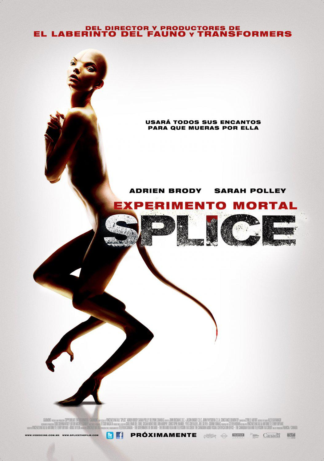 Splice -  film horror scifi science fiction fantascienza poster