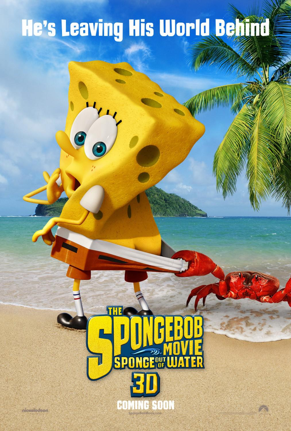 Spongebob Squarepants - Sponge out of Water - poster - he's leaving his world behind