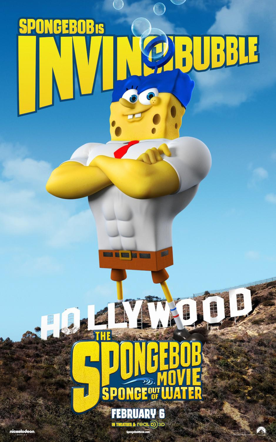 Spongebob Squarepants - Sponge out of Water - poster - Spongebob is Invincibubble
