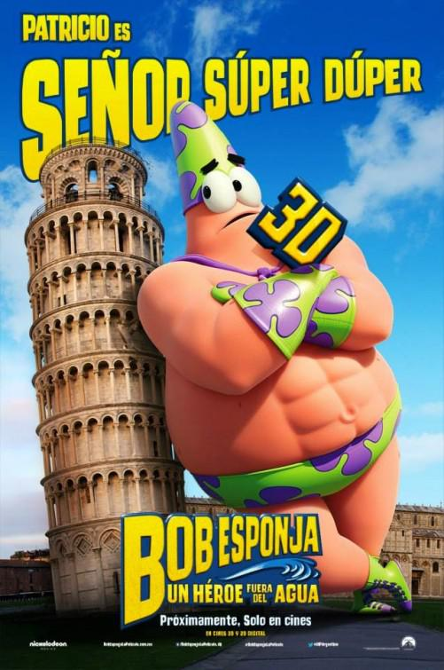 Spongebob Squarepants - Sponge out of Water - poster - Patricio es Senor Super Duper