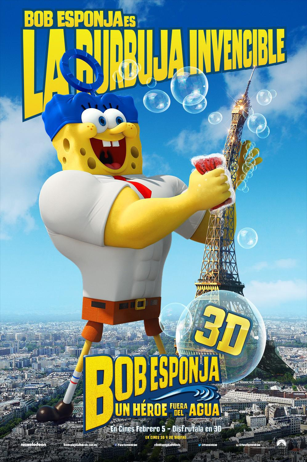 Spongebob Squarepants - Sponge out of Water - poster - Bob Esponja es La Burbuja Invencible