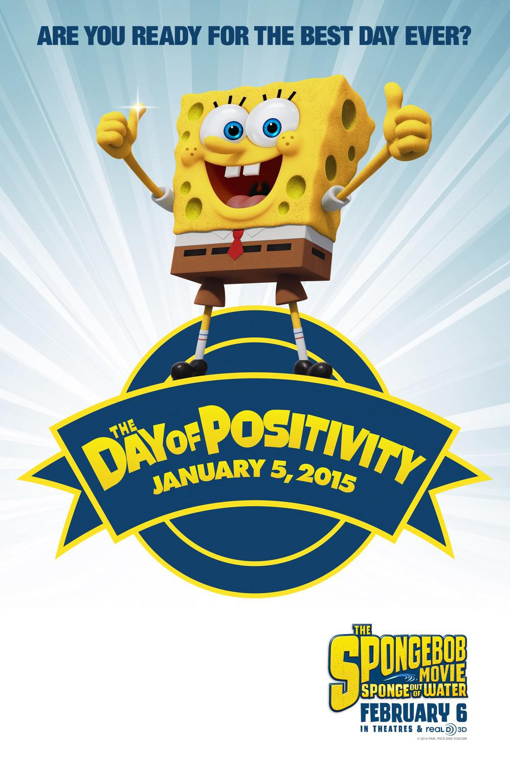 Spongebob Squarepants - Sponge out of Water - poster - Are you ready for the best day ever?