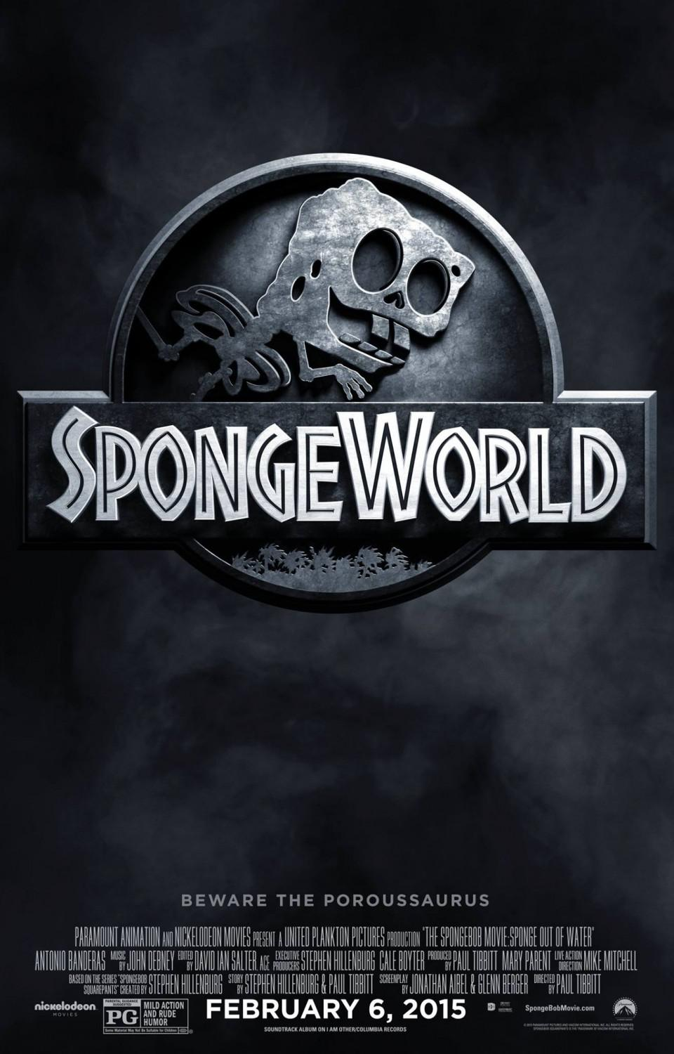 Spongebob Squarepants - Sponge out of Water - poster Spongeworld - jurassic