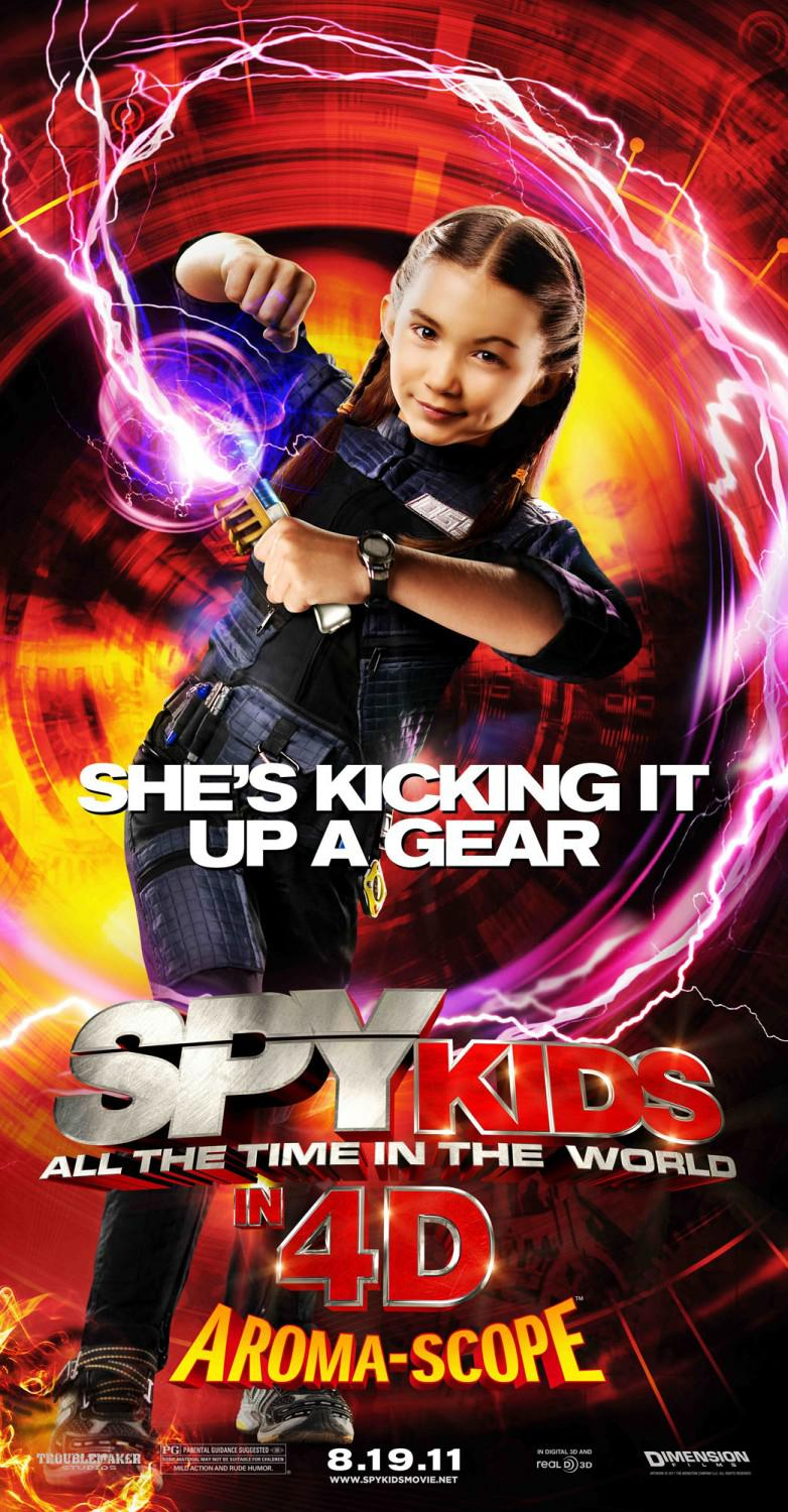 Spy Kids 4 - all the Time in the World - she's kicking it up a gear