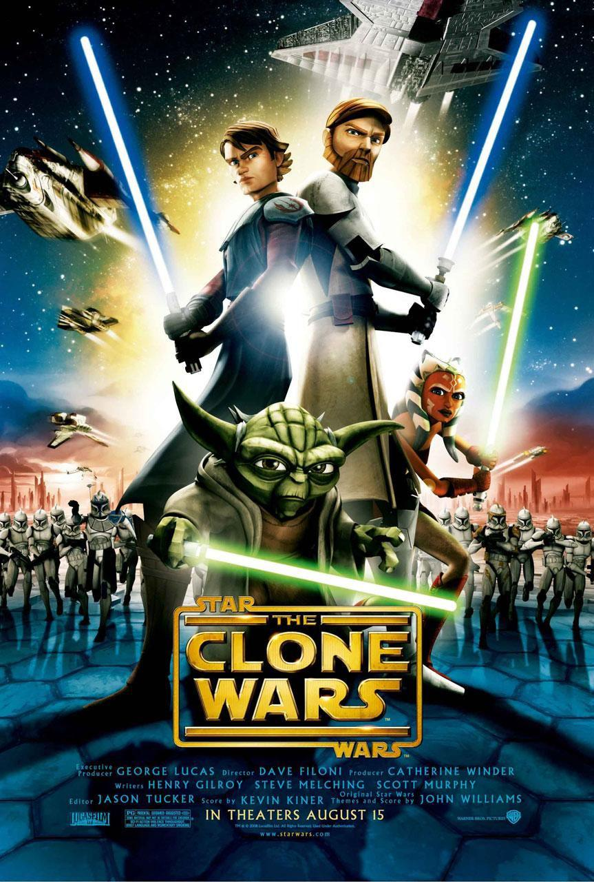 Star Wars animated - The Clone Wars - poster