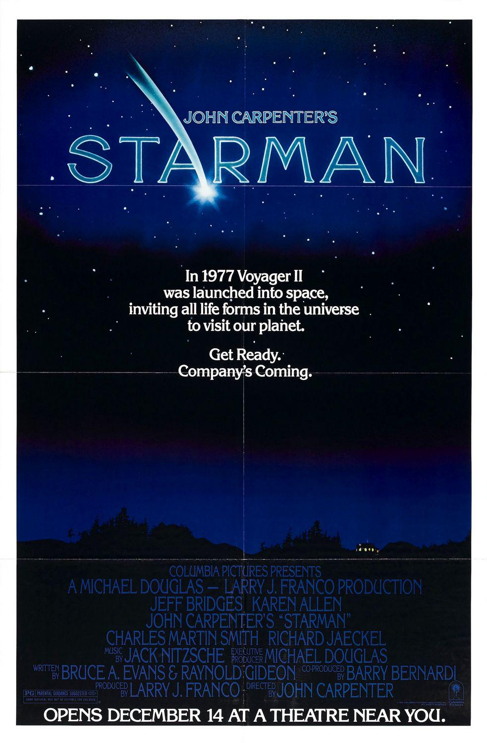 John Carpenter's film - Starman - special 80s cult scifi poster