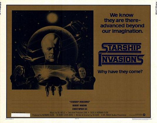 Starship invasions - we know thet are there advanced beyond our immagination - why have they come? - old classic scifi science fiction fantascienza cult poster