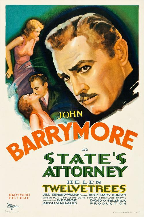 States attorney ... old classic movie with John Barrymore