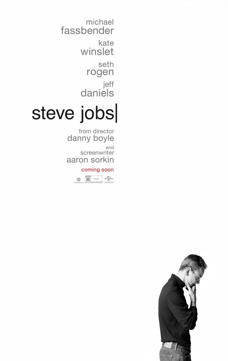 Steve Jobs - film biography - Michael Fassbender - Kate Winslet - Seth Rogen - Jeff Daniels - poster