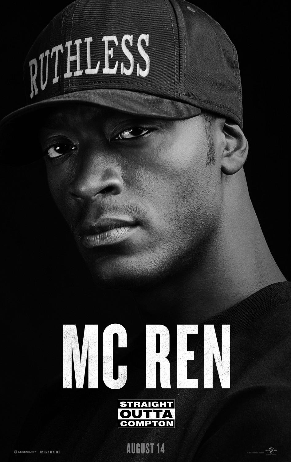 Straight outta Compton - film music poster - MC REN