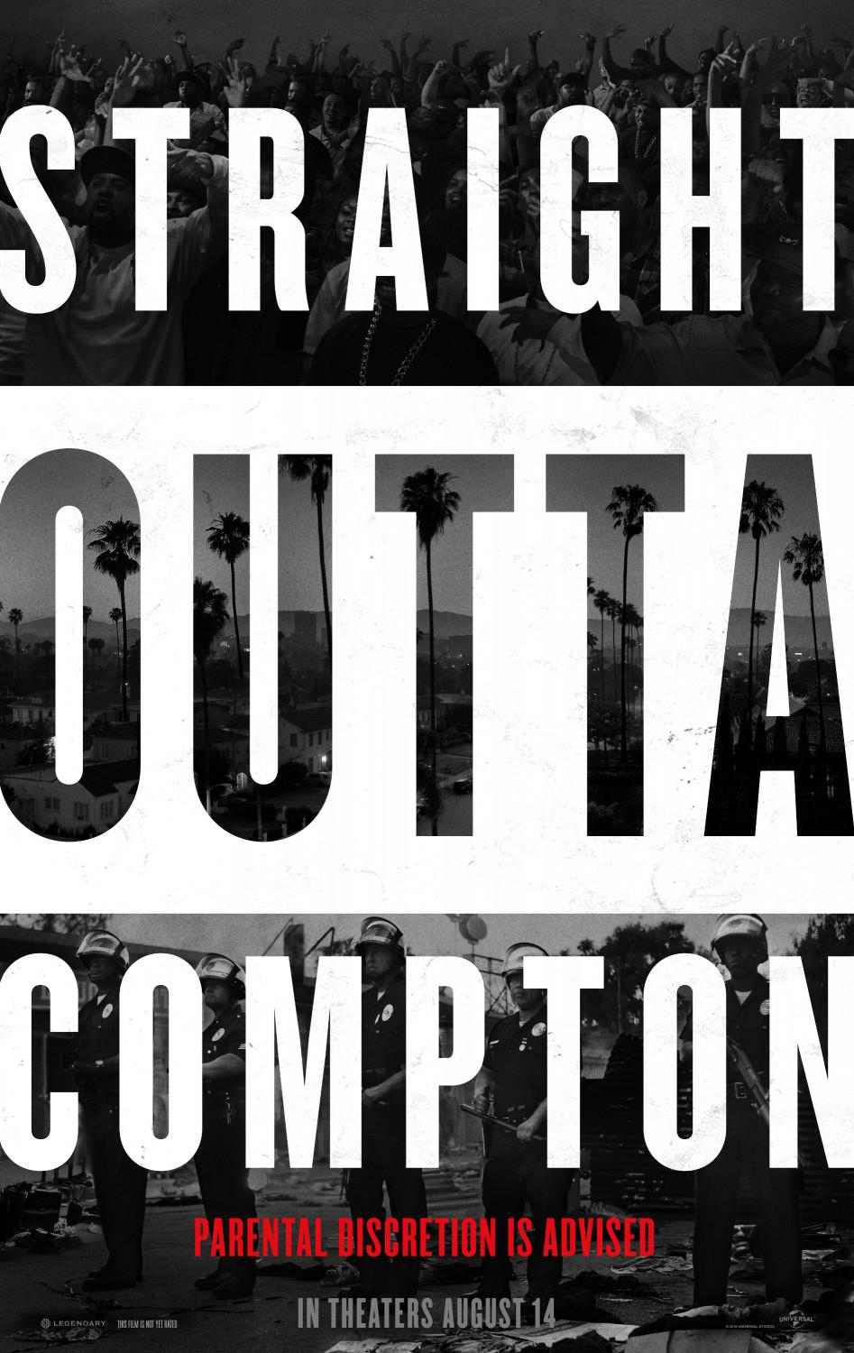 Straight outta Compton - film music poster