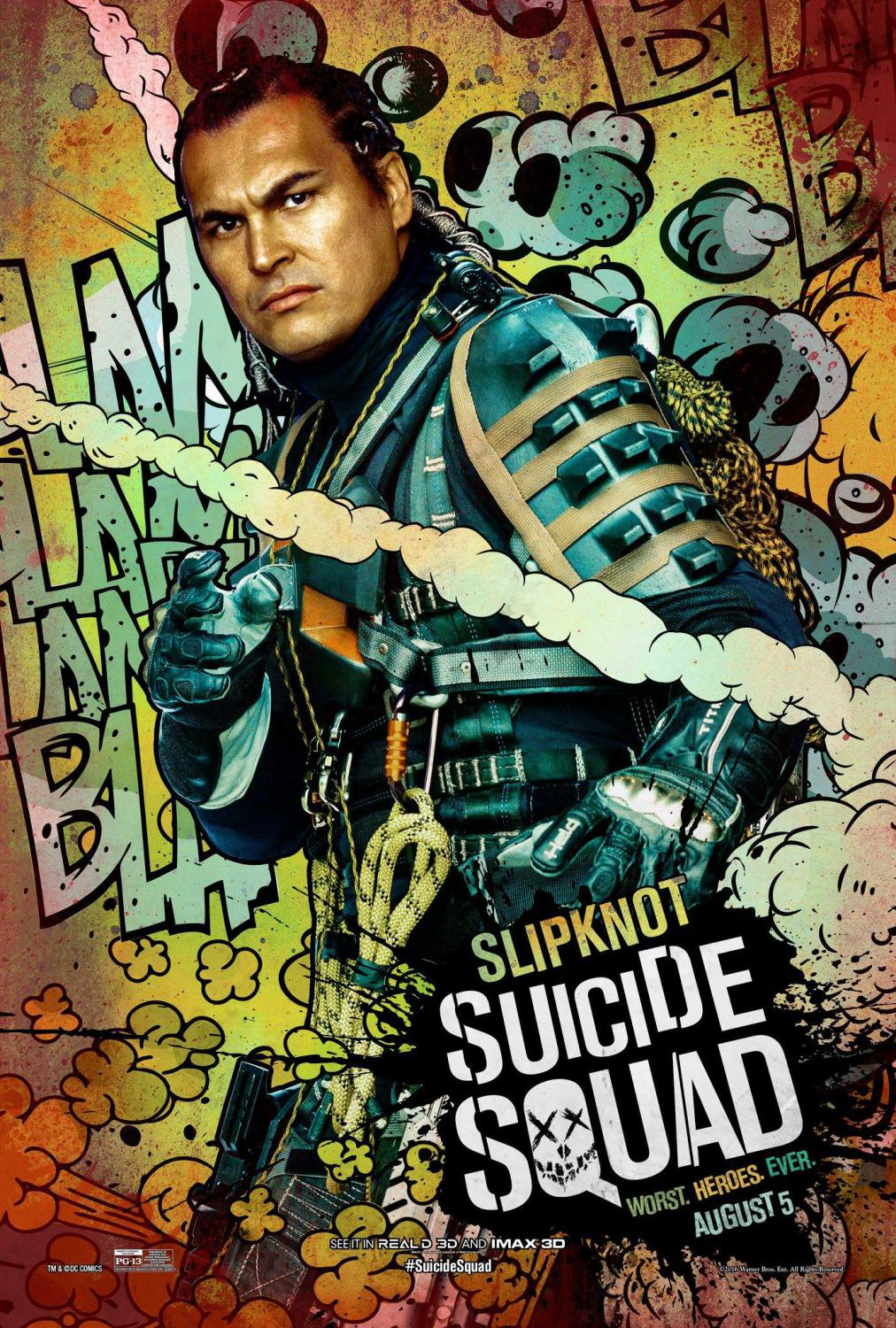 Suicide Squad - Christopher Weiss - Slipknot - Adam Beach