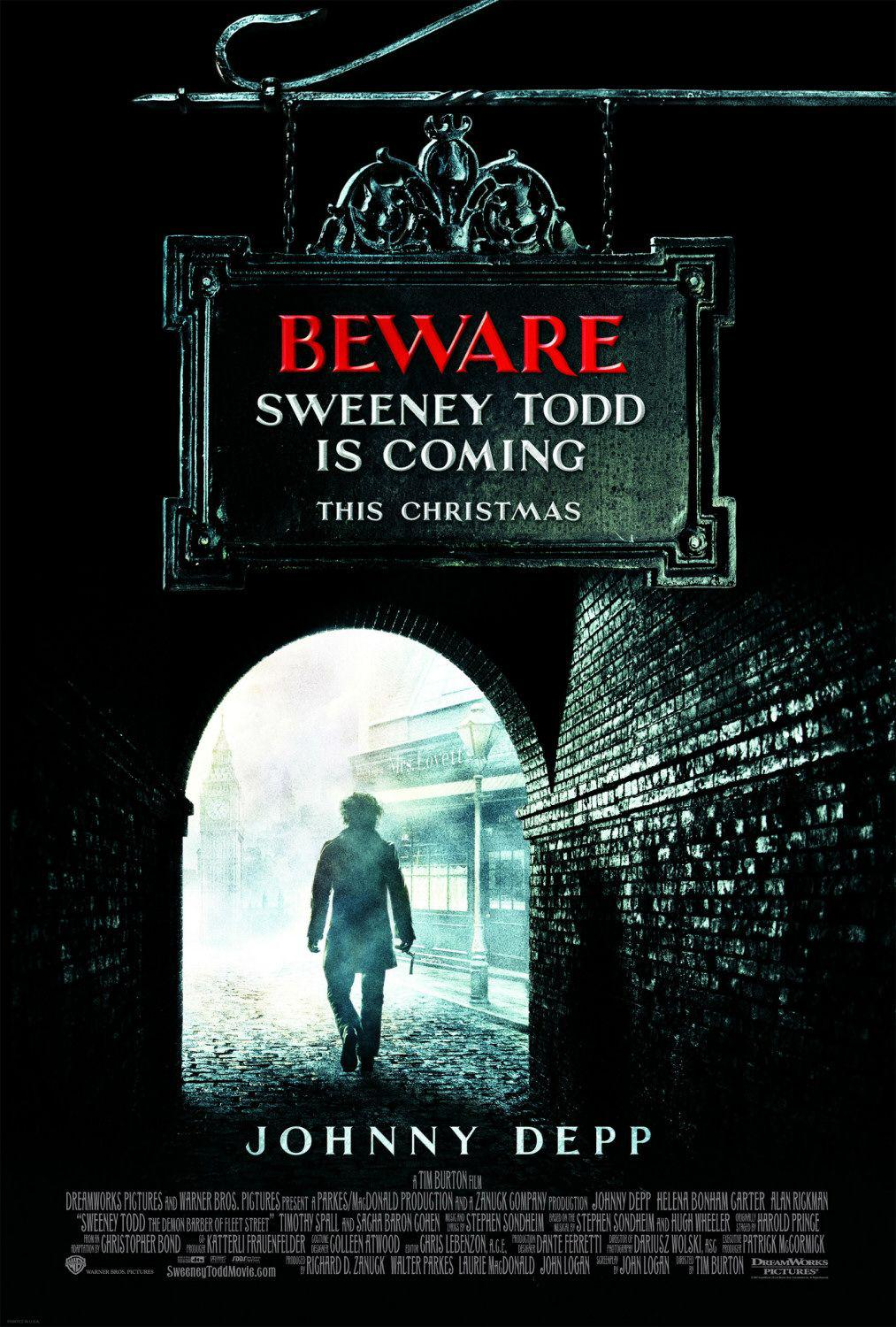 Sweeney Todd - Il diabolico barbiere di Fleet Street - The Demon Barber of Fleet Street - poster