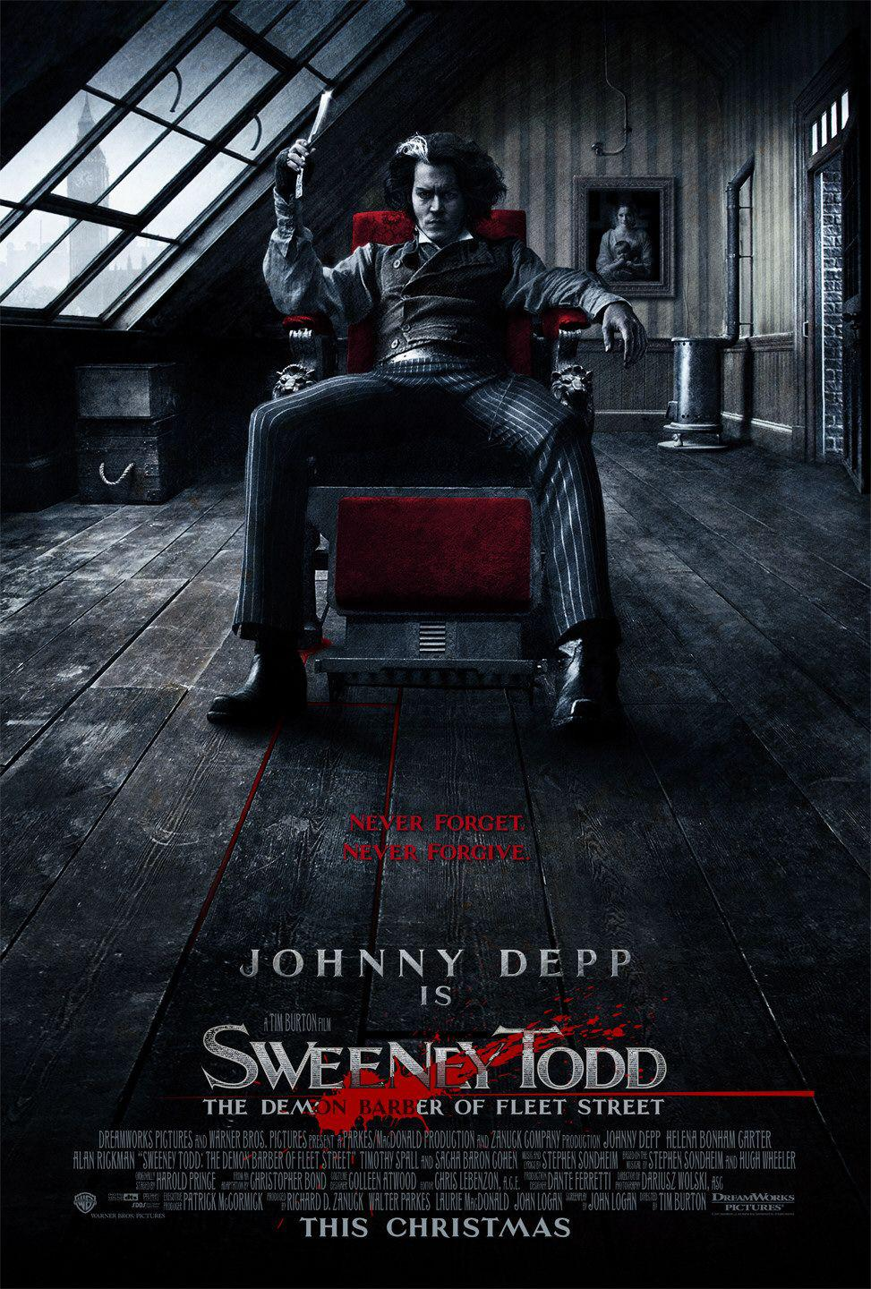 Sweeney Todd - Il diabolico barbiere di Fleet Street - The Demon Barber of Fleet Street - Johnny Depp - poster
