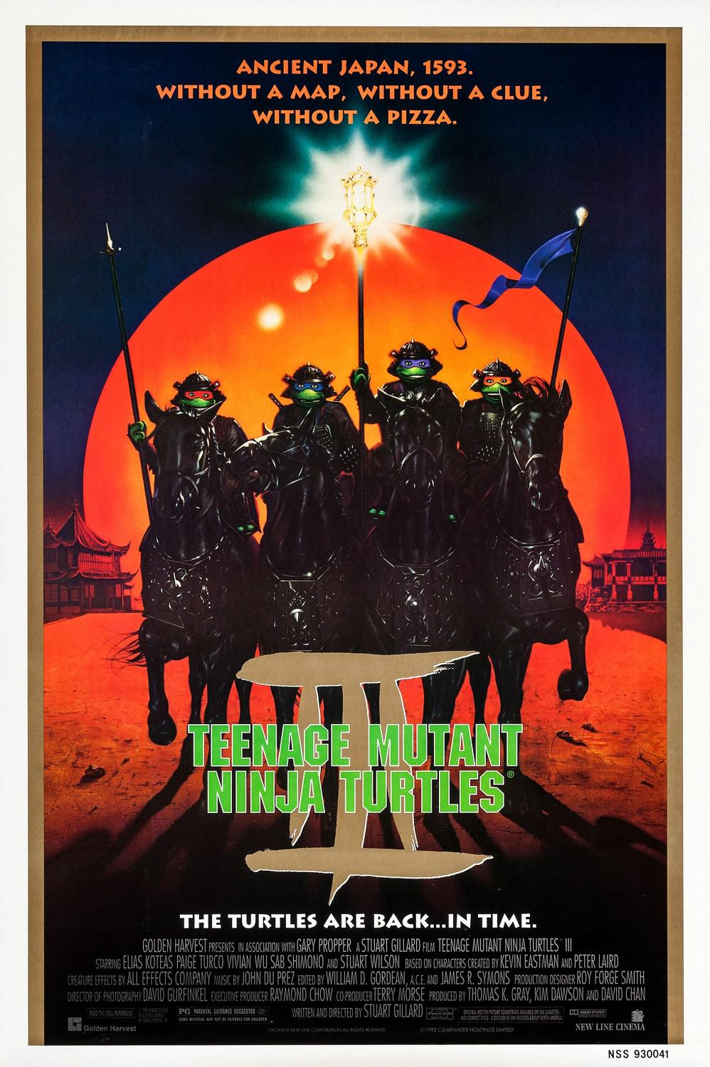 TMNT - Teenage Mutant Ninja Turtles - back in time  - poster