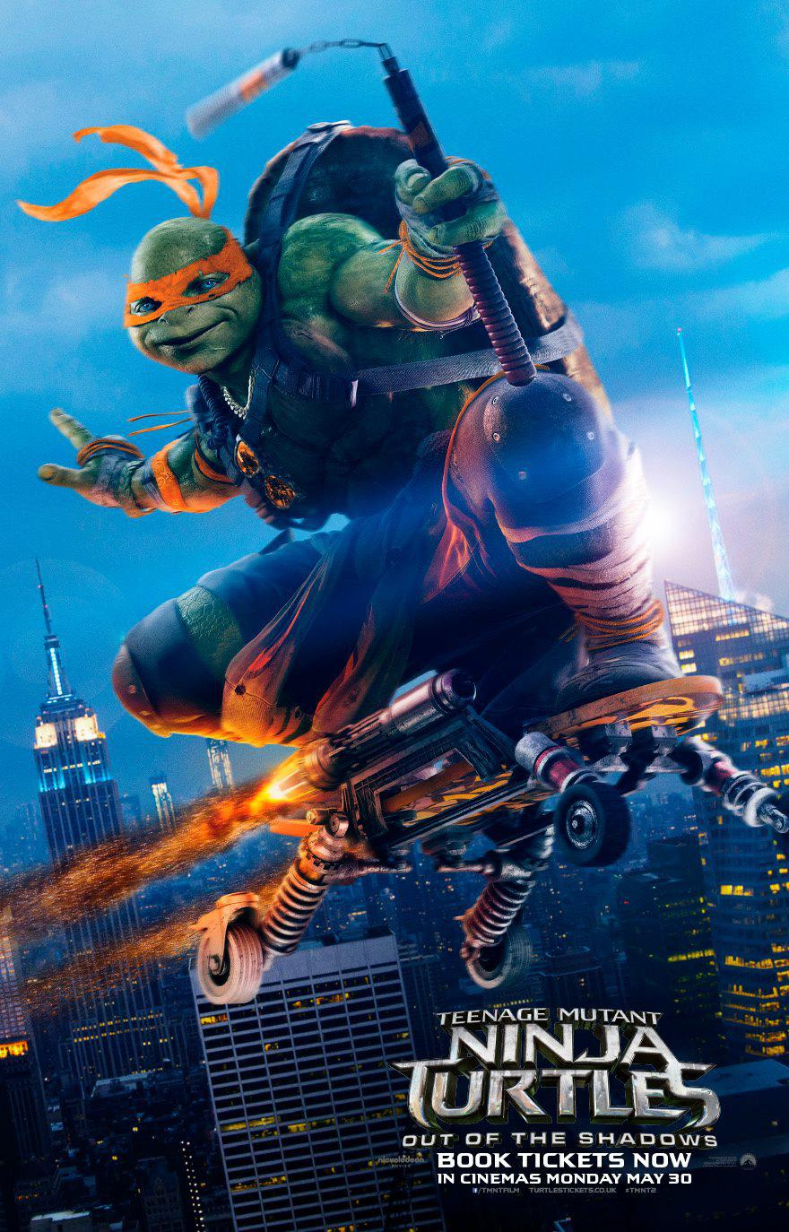 TMNT - Teenage Mutant Ninja Turtles out of the Shadows - Fuori dall'Ombra (2016) - flying