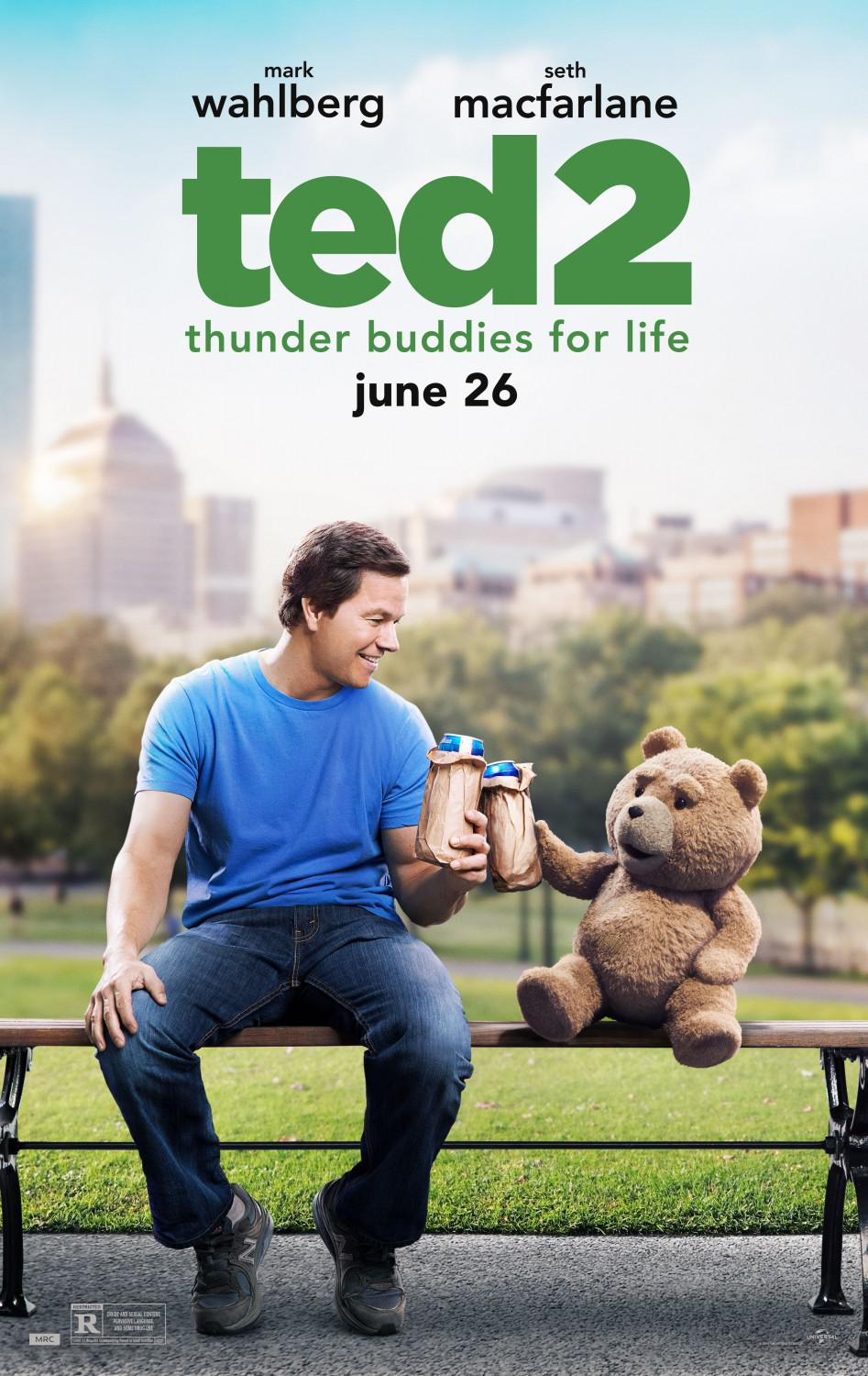 Ted 2 - Ted two - poster - Mark Wahlberg - Seth MacFarlane