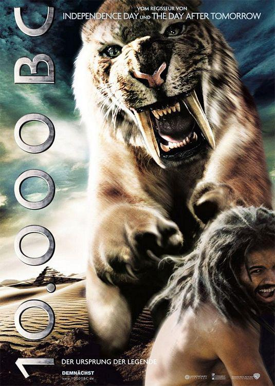 Ten Thousand BC - 10000 BC  - poster - tiger