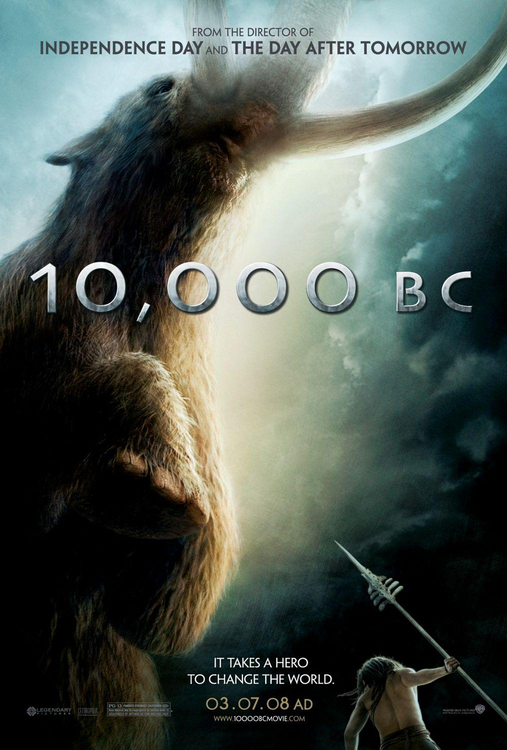 Ten Thousand BC - 10000 BC  - poster - Mammut - Mammout - Mammouth - ancient elephant